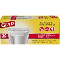 Glad Small Trash Bags, 4 Gallons, 30 ct