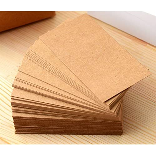 Outflower 100 Pcs Vierges En Papier Kraft Cartes De Visite Word Carte Message DIY Graffiti