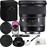 Sigma 24mm f/1.4 DG HSM Art Lens for Nikon F Bundle Includes Manufacturer Accessories + 3PC Filter Kit + Lens Cleaning Pen + Cap Keeper + Microfiber Cleaning Cloth