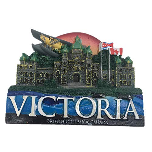 Victoria Canada Magnets Refrigerator Stickers Resin 3D Funny City Tourist Souvenirs Magnetic Fridge Magnet for Whiteboard Home Kitchen Decoration Accessories Gifts