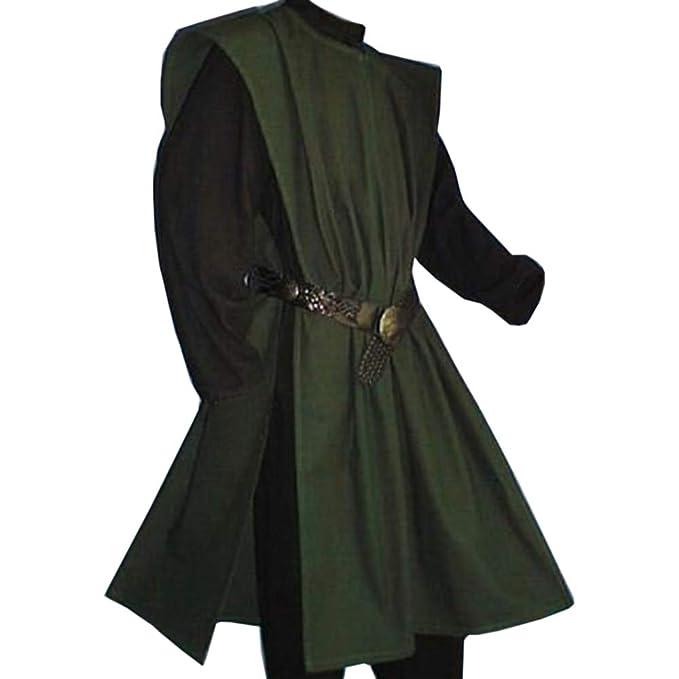 Amazon.com: Aurgelmir - Túnica medieval para hombre, estilo ...