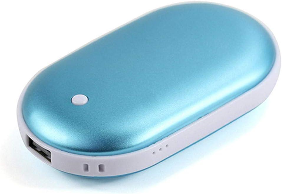 Calentador de manos 5000 mAh recargable port/átil bolsillo USB calentador el/éctrico banco de energ/ía regalos nuevo para mujeres hombres invierno