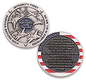 Air Force Core Values Challenge Coin - United States Air Force Challenge Coin - Amazing US Air Force Military Coin - Designed by Military Veterans! by Coins For Anything Inc