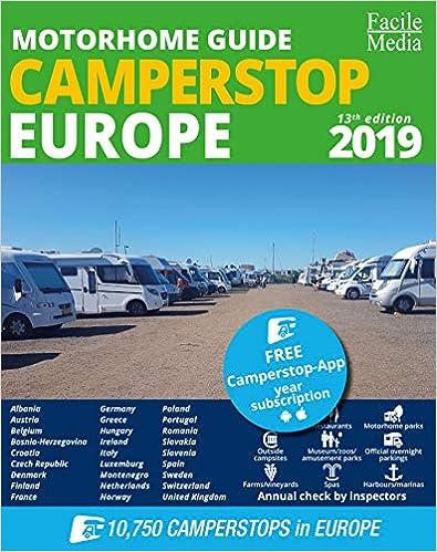 Motorhome guide Camperstop Europe 27 countr 2019 GPS 2019