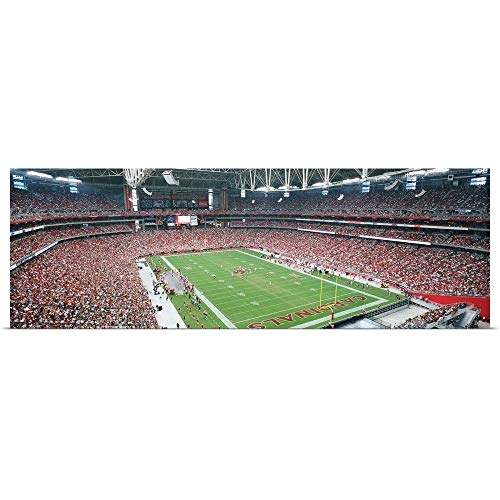 GREATBIGCANVAS Poster Print Entitled High Angle View of Spectators in University of Phoenix Stadium, Phoenix, Arizona by Panoramic Images 36