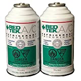 2 Cans - REDTEK A/C Refrigerant (6 Ounce Can)