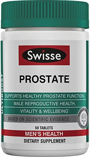 Swisse Ultiboost Prostate Supplement for Men | Supports Prostate Function & Male Reproductive Health | Zinc, Selenium, Saw Palmetto & Stinging Nettle | 50 Tablets