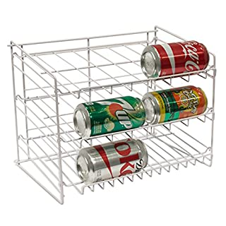 Atlantic Gravity-Fed Compact Single Canrack - Kitchen Organizer, Durable Steel Construction, Size Fits Most Pantries, PN1002 in White (B00021RESS) | Amazon price tracker / tracking, Amazon price history charts, Amazon price watches, Amazon price drop alerts