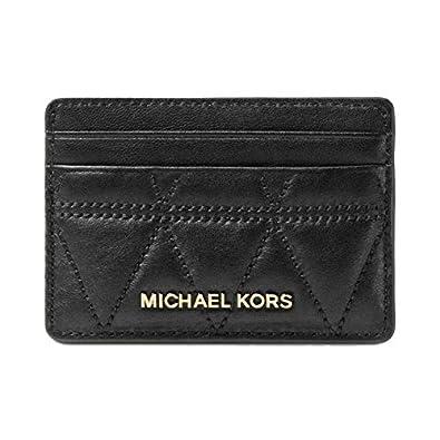 972e045e7edb Amazon.com  Authentic Michael Kors Black Subtle Leather Card Bills And  Change Holder Wallet Black  Shoes