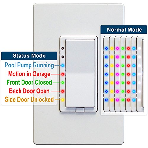 HomeSeer HS-WD200+ Z-Wave Plus Scene-Capable Wall Dimmer, Works with Amazon (Scene Dimmer)