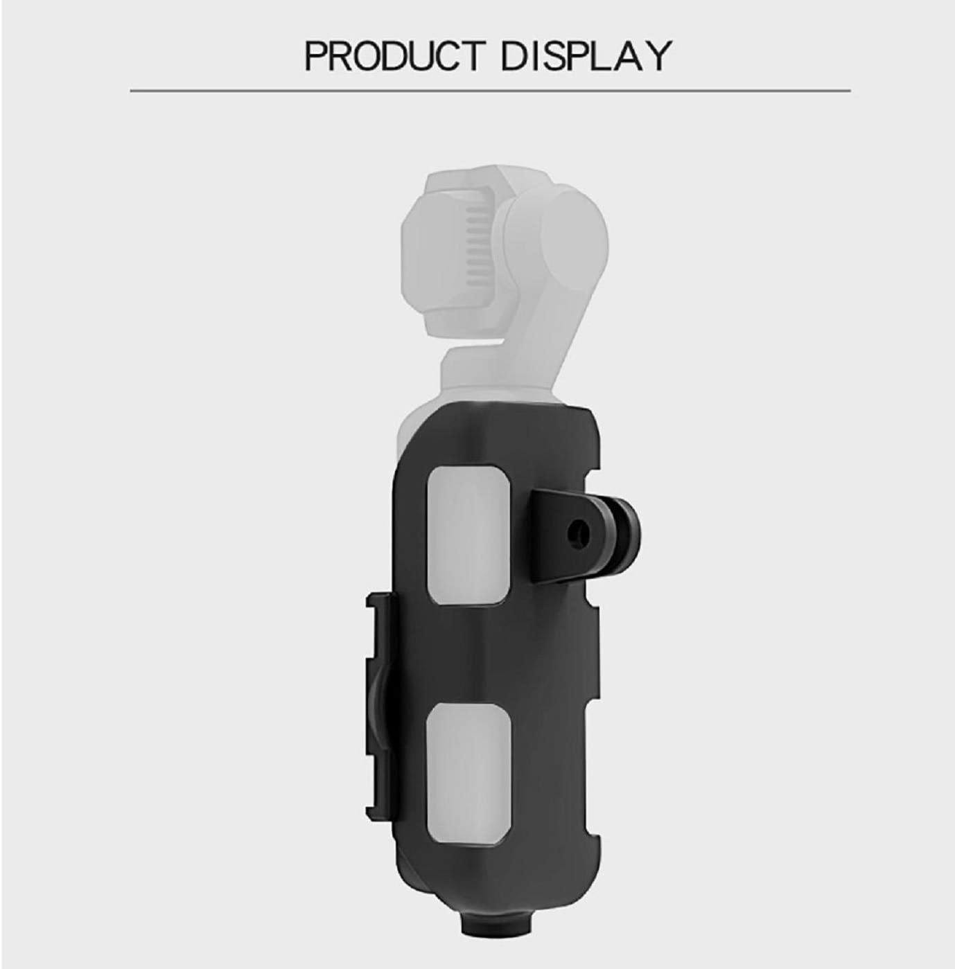 Cinhent Quick Release Buckle Snap Extension Bracket Compatible with DJI OSMO Pocket with 1//4 Motion Camera Interface