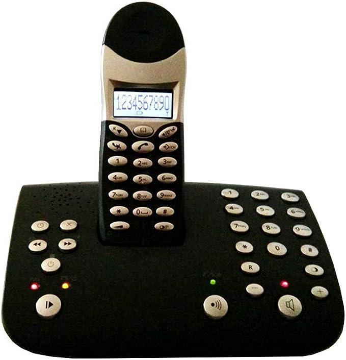 TeléFono BotóN Vintage Nuevo Identificador Llamadas TeléFono La Oficina En El Hogar Luminoso TeléFono InaláMbrico Digital TeléFono Antiguo Bienvenido (Color: Gris): Amazon.es: Hogar