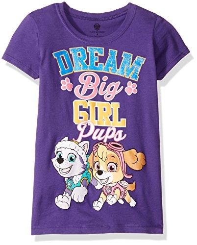 Nickelodeon Girls' Little Girls' Paw Patrol Pups Dream Big T-Shirt, Purple, 6X]()