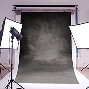DODOING 3x5ft Grey Back Vinyl Photo Backdrops Photography Customized Studio Background Studio Props 0.9x1.5m