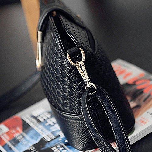 pour Sac Cuir La Nouveau Dames À Sac 23cm Épaule Main H Mode Faux Contever® en 18cm T Noir Noir L 10cm 1wPxEBqYB