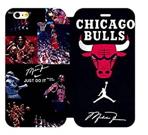 Hoomin Chicago Bulls Air Michael Jordan Logo iPhone 5C Cell Phone Cases Cover Popular Gifts(Laster Technology)