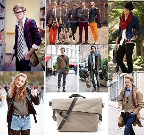 LIUFENGLONG Shoulder Bag Female Models Mens Canvas Fabric Casual Backpack Large Capacity Commute LIUFENGLONG Size : M