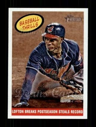 - 2008 Topps Heritage # 374 Baseball Thrills Kenny Lofton Cleveland Indians (Baseball Card) Dean's Cards 8 - NM/MT Indians