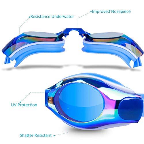 Black DEFUNX Swim Goggles,Shortsighted Swimming Goggles Myopic with Prescription Lenses Anti Fog for Women Kids Men Swimming Goggles Swimming Goggles Yunin Black
