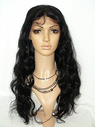 Sina Beauty best sale 20 inch 100% bleached knots #1 virgin brazilian silk full lace wigs glueless lace wigs long body wave for black women
