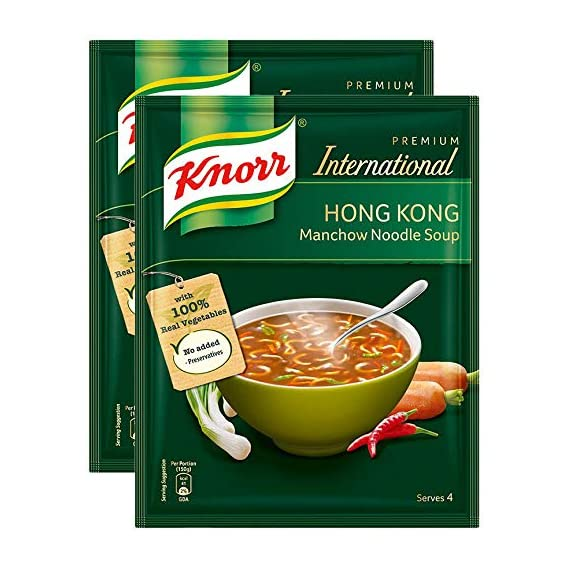 Knorr International Hong Kong Soup, Manchow, 46g (Pack of 2) Promo Pack