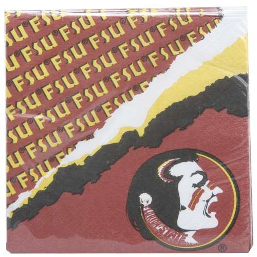 Football Fanatics NCAA Florida State Seminoles (FSU) Beverage Napkins
