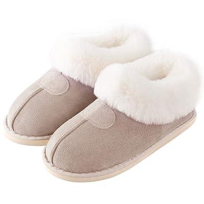 Amazon.com | GaraTia Women Men Winter House Slippers Antiskid Indoor & Outdoor Fuzzy Shoes | Slippers