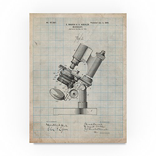 Bausch And Lomb Microscope by Cole Borders, 35x47-Inch Canvas Wall Art Bausch And Lomb Microscopes