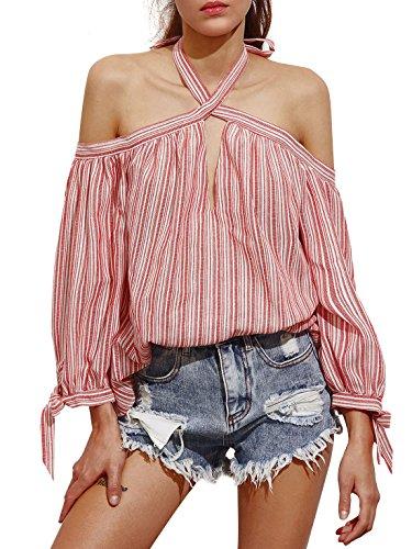 Cotton Striped Halter Top - 2