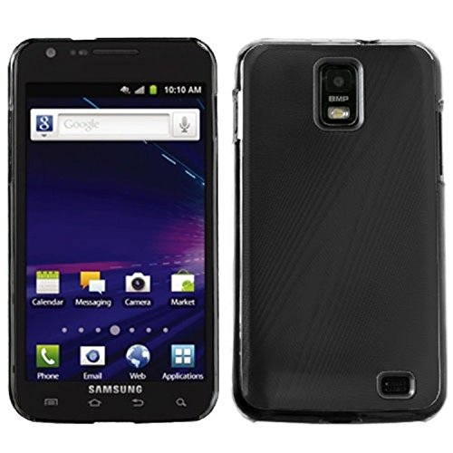 MYBAT SAMI727HPCBKCO002NP Premium Metallic Cosmo Case for Samsung Galaxy S2 Skyrocket - 1 Pack - Retail Packaging - Black