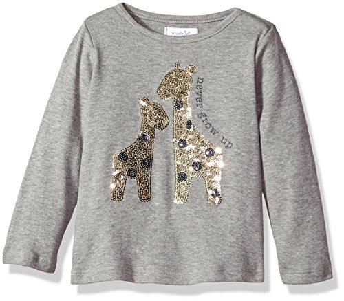 Lg Gold Sequins (Mud Pie Baby Toddler Girls' Sequin Long Sleeve T-Shirt, Giraffe, LG/ 4T-5T)