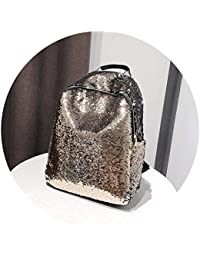 Backpack Teenage Girls Casual Big Capacity Travel School Bag Bling Fe Paillette Bookbag