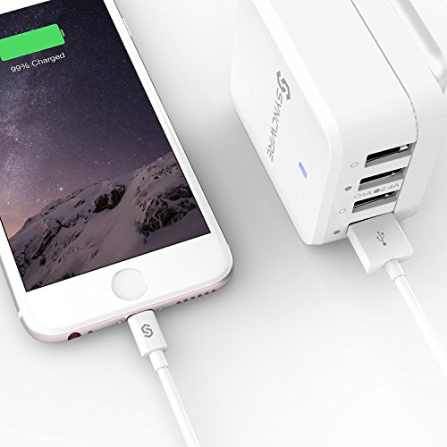 Syncwire iPhone Charger Lightning Cable, [Apple MFi Certified] Tablet Charger & Adapter High Speed Charging Cord for iPhone Xs Max/XS/XR/X, 8 7 6S 6 Plus, SE 5S 5C 5, Ipad iPod – 3.3Ft/1M White