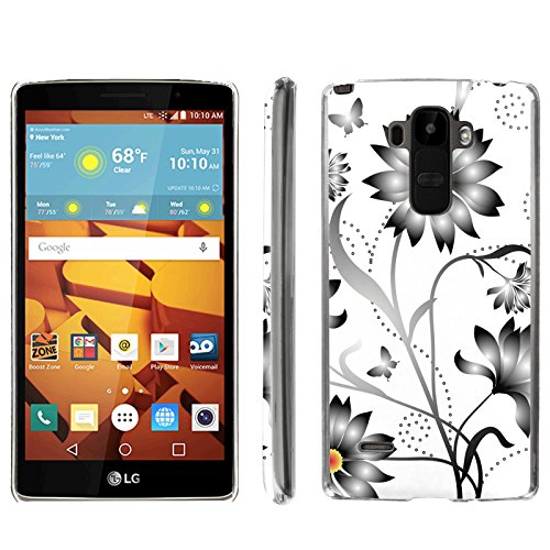 [ArmorXtreme] Phone Case for LG G Stylo LS770 / LG G4 Note Stylus / LG G Stylo H631 / MS631 [Clear] [Ultra Slim Cover Case] - [Gray Flower] -  ArmorXtreme for LG G Stylo H631