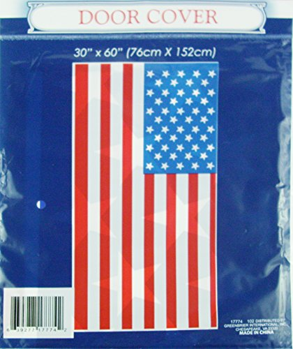 Patriotic American Flag Door Cover - 30 x 60 (Door American Flag Cover)