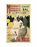 Moulin Rouge/La Goulue is a licensed reproduction that was printed on Premium Heavy Stock Paper which captures all of the vivid colors and details of the original. The overall paper size is 14.00 x 11.00 inches and the image size is 11.50 x 7.25 inch...