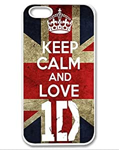 Season.C Retro Keep Calm and Love 1D One Direction Slim White Side Hard Back Case Cover for iPhone 6 Plus (5.5 inch)