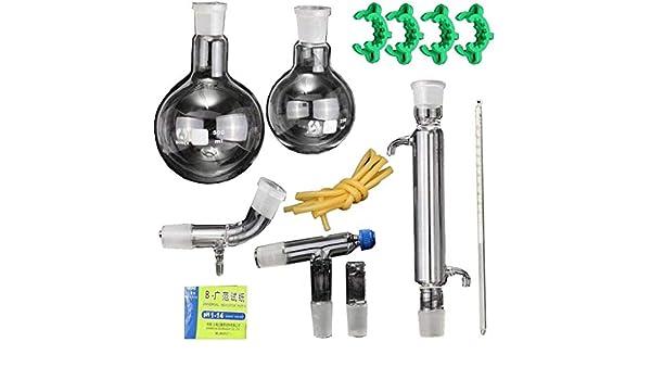 NSDFG Química de Vapor Destilación Equipo cristalería Experimento químico Kit Purificador de Agua destilada Especial ...