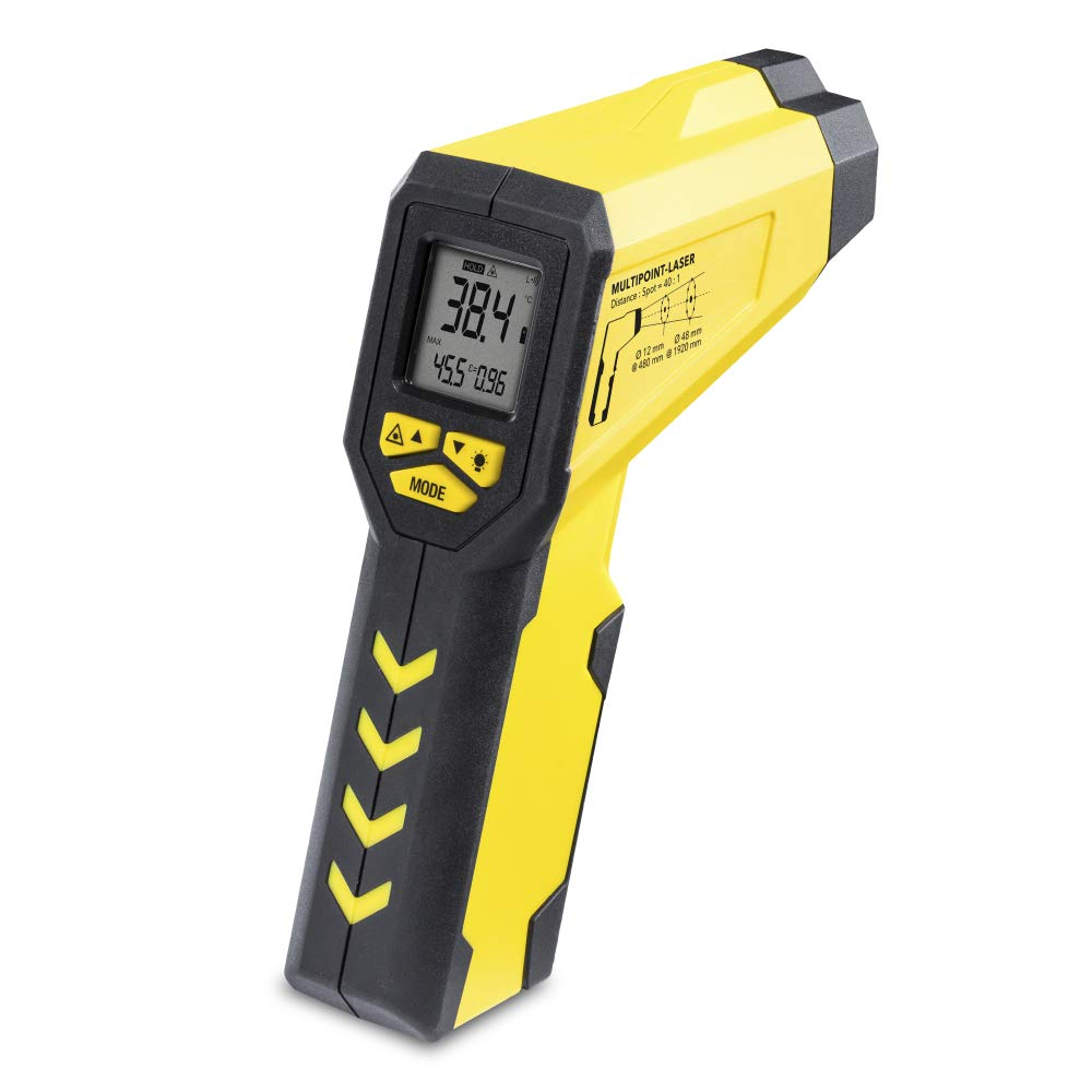 TROTEC TP7 Multipunkt-Laser Infrarot Thermometer, Pyrometer, -50° C bis +1.000 ° C, Berü hrungslos Thermometer Digital LCD, Hintergrundbeleuchtbares Display