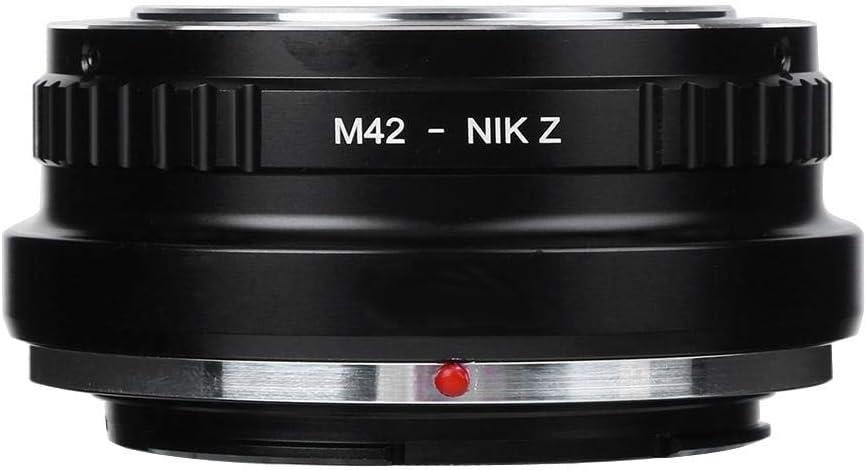 M42-NIK Z Adattatore per Montaggio Obiettivo Fotocamera Messa a Fuoco Manuale Anello Adattatore per Montaggio Obiettivo per Obiettivo con Attacco M42 per Fotocamera con Attacco Z Nikon