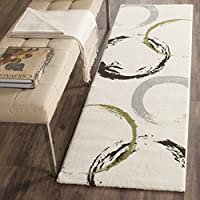 Safavieh Porcello Collection PRL3723A Ivory and Green Runner (24 x 67)