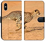 Apple iPhone XS Flip Fabric Wallet Case Running at Full Speed in South Africa Acinonyx jubatus Image 33943583 Customized Tablem