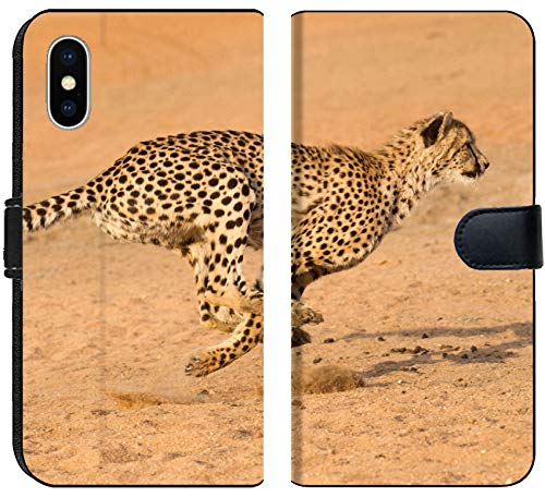 Apple iPhone XS Flip Fabric Wallet Case Running at Full Speed in South Africa Acinonyx jubatus Image 33943583 Customized Tablem by MSD