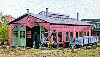 Walthers Cornerstone Series Kit HO Scale 2-Stall Engine House & Accessories