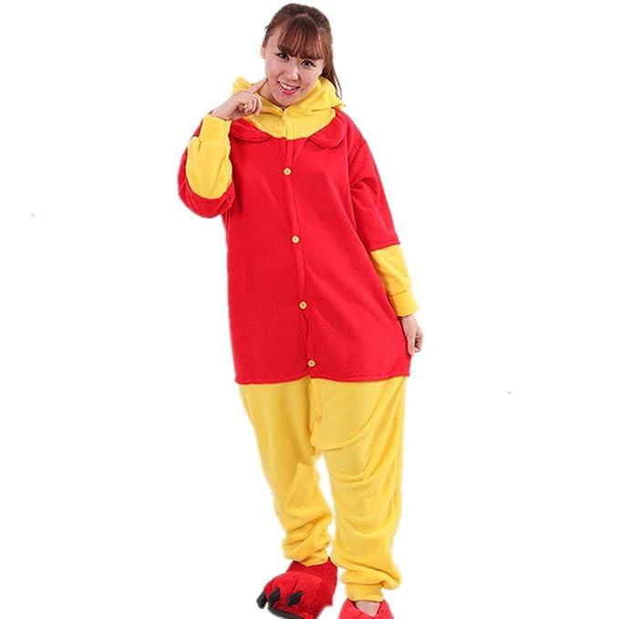 BOMOVO Pijama de una pieza supersuave - Con capucha - oso Pooh