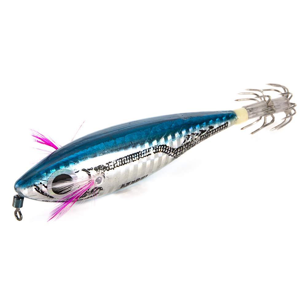 Explopur Se/ñuelos de Pesca Dura Artificial de Plantilla de Calamar de 3 Piezas