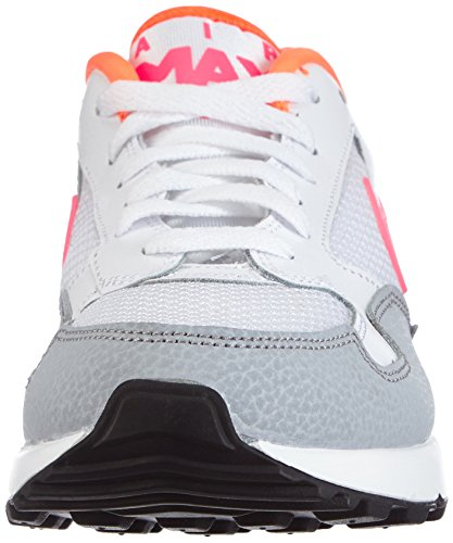 Nike Mens Air Max St Ankle-High Leather Running Shoe White Fuchsia Flash Wolf Grey Anthracite 103 8qkHJUNQ