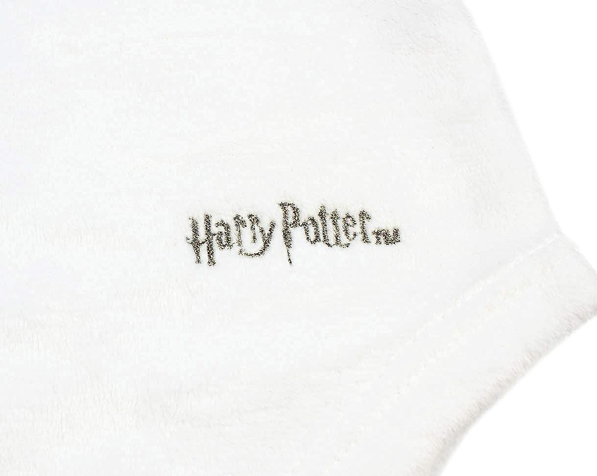 Harry Potter Pajama Girls Hedwig Owl Micro Raschel Fleece Hi-Lo Nightgown Costume M, 7//8 White