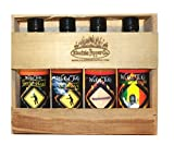 Hot Sauce Gift Set Medium Heat Habanero Chipotle Gift Garlic Sweet Sauce 4 Pack