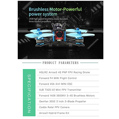 Wikiwand HGLRC Arrow 3 FPV Racing Drone 4S BNF Quadcopters with Flysky A8S V2 Receiver